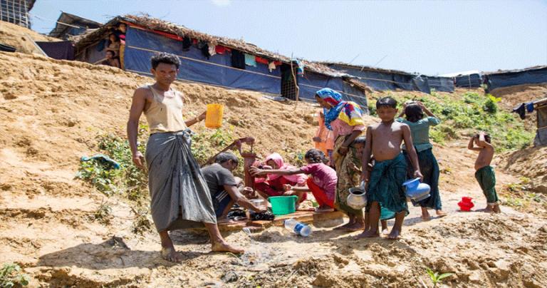 Rohingya Refugee Water Pump