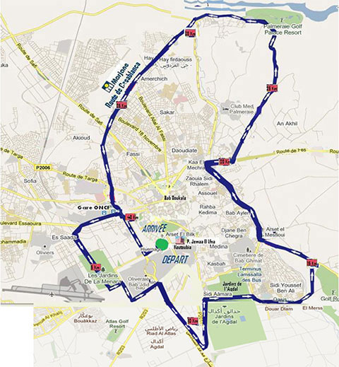 Marrakech International Marathon Map