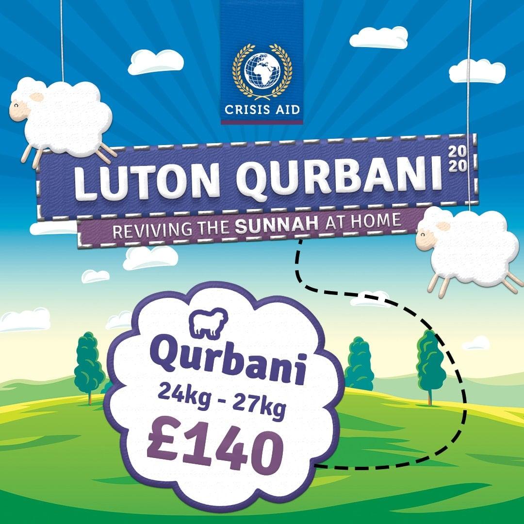 Luton Qurbani - Donate Now: https://www.crisisaid.org.uk/donations/luton-qurbani/